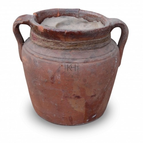 Clay Pot Oil Lamp