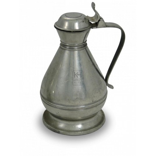 Monks Pewter Wine Flagon Polished