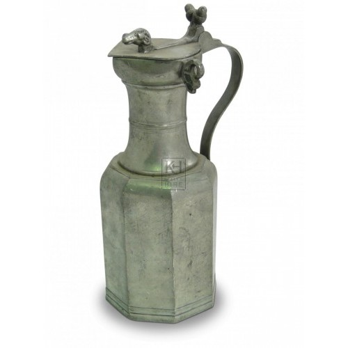 Pewter Flagon with Rams Head
