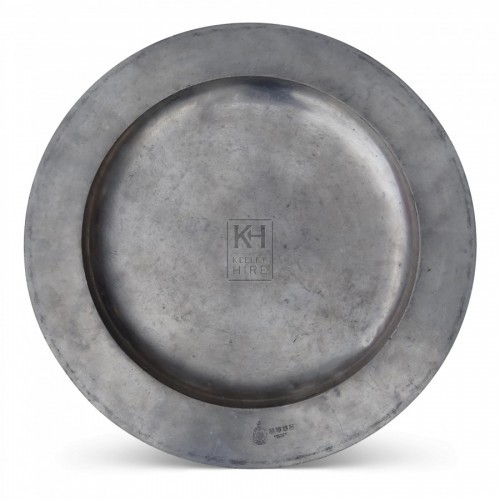 Large Pewter Meat Plate