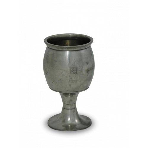 Barrel Shaped Pewter Half Pint Goblet