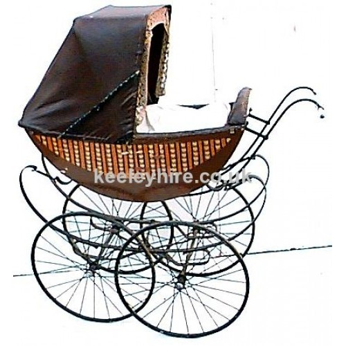 Brown Patterned Victorian pram