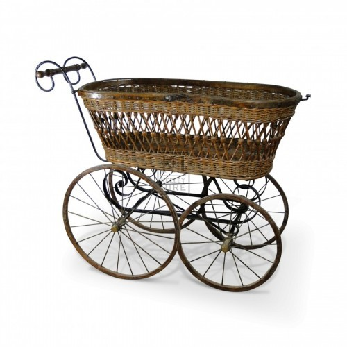 Early Victorian Wicker Pram