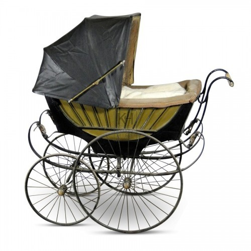 Black and Gold Victorian Pram