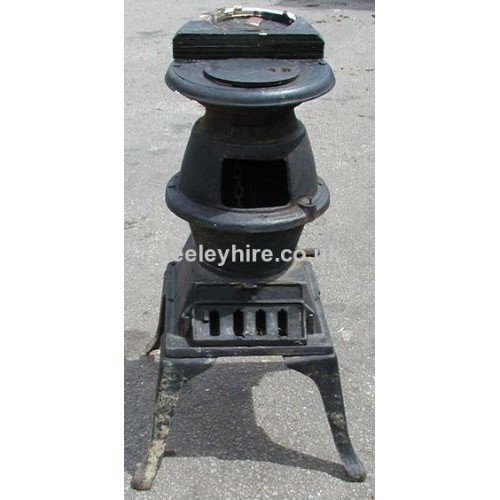 Iron pot belly stove