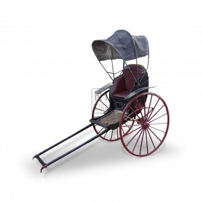 Red and Black Rickshaw