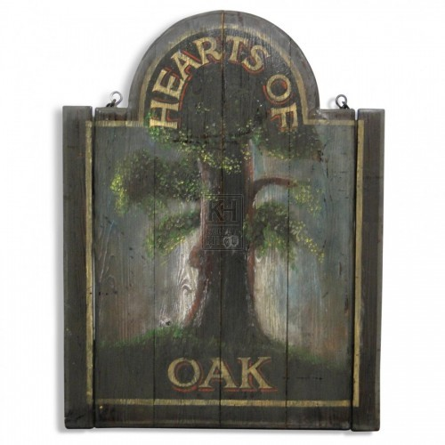 Hearts of Oak Sign