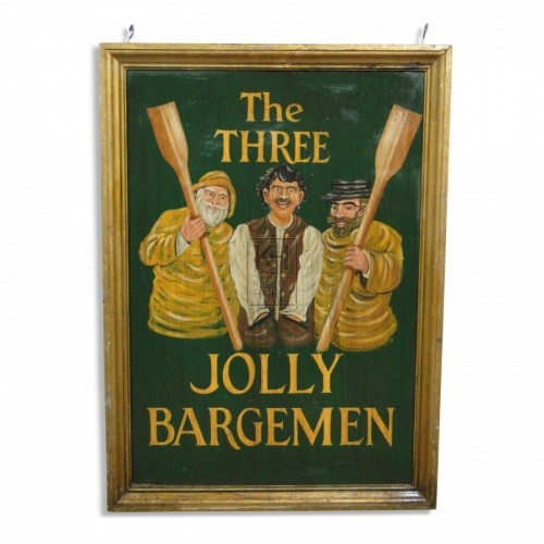 The Three Jolly Bargemen Sign