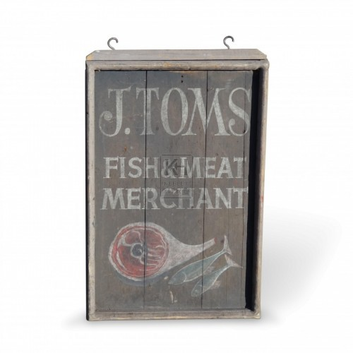 J Toms Fish and Meat Sign