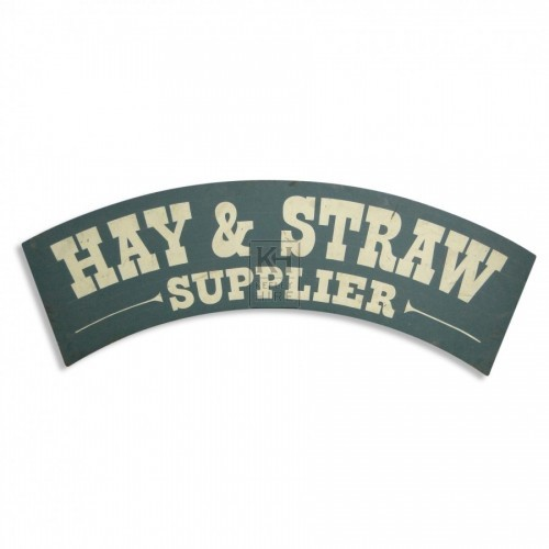 Hay & Straw Sign