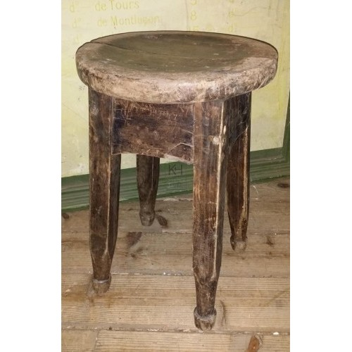 Low Round Wooden Stool