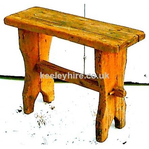 Rectangle wood stool