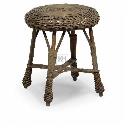Round Wicker Stool