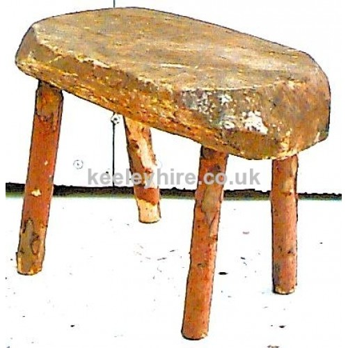 Rustic wood stool
