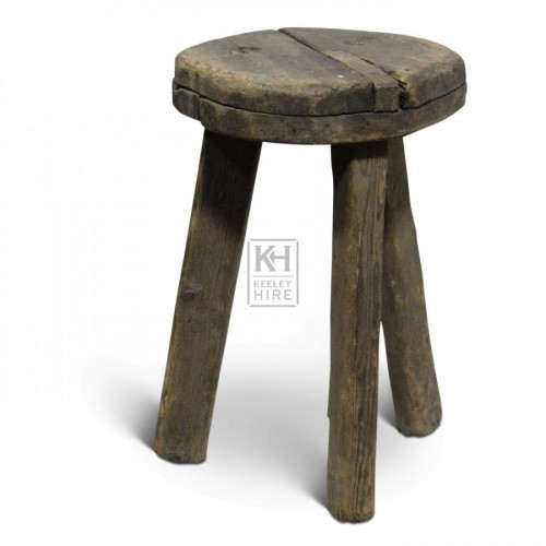 Thick Round Wood Stool