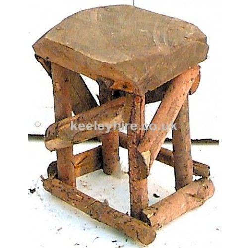 Rustic thick wood stool
