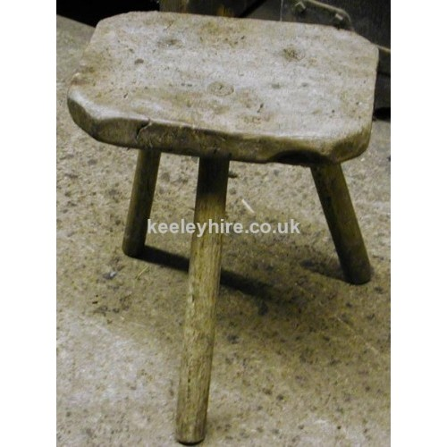 Low wood milking stool