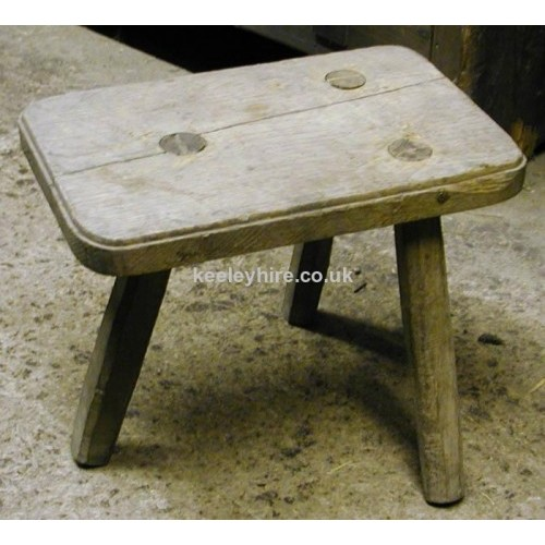3 Legged Rectangular Stool