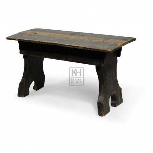 Carved Leg Bench Style Stool