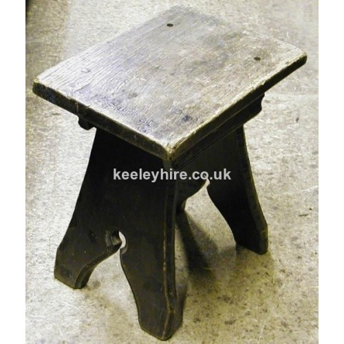 Dark Wood Stool with carved legs