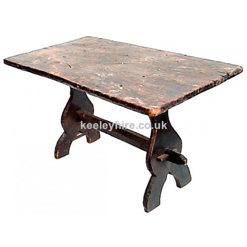 Dark oak wood table