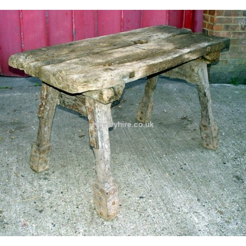 Rough wood table