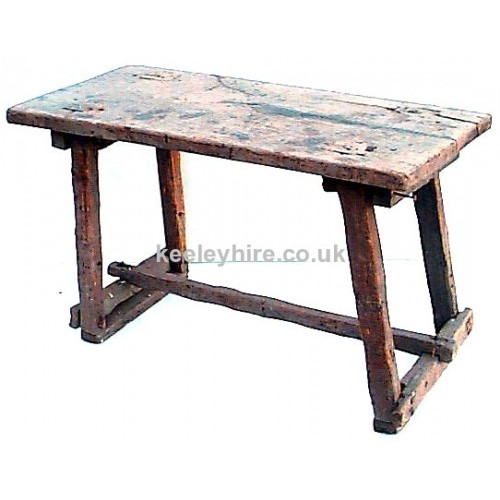 Rough wood rectangle table