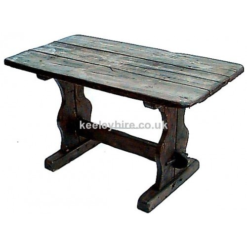 Dark wood refectory table