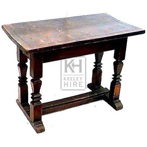 Dark wood oak table