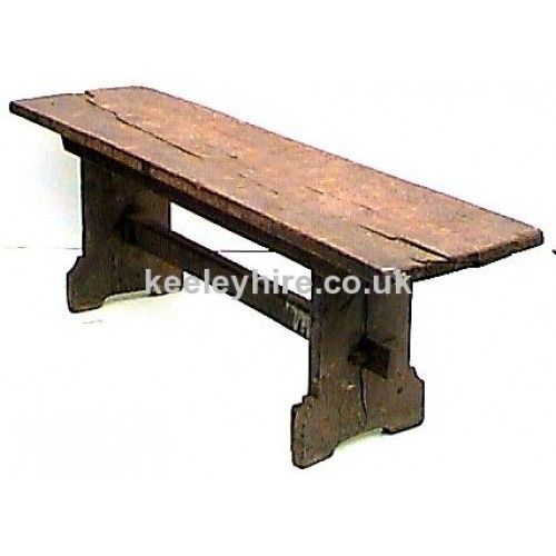 Rectangle dark wood table