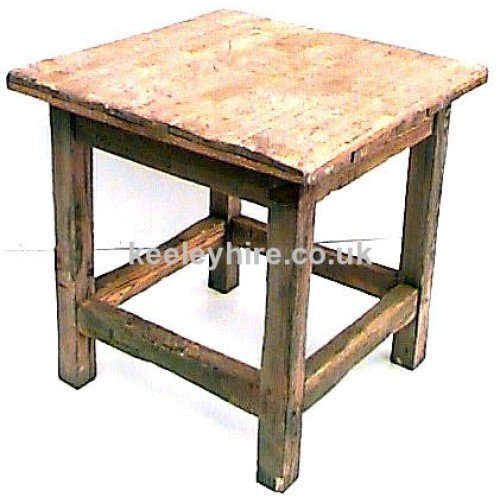 Light wood square table
