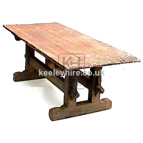 Long wood pine table