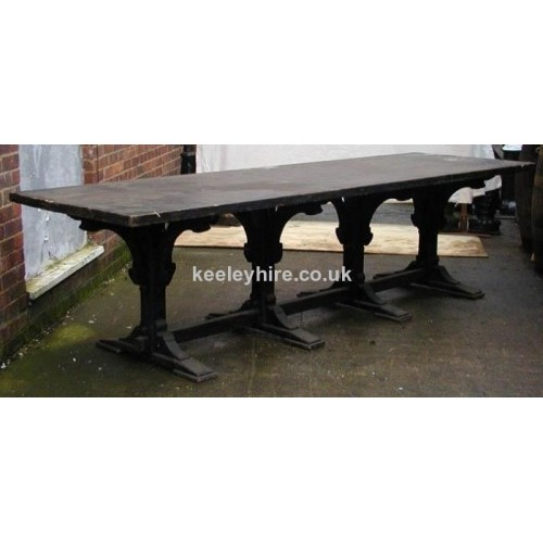 10 FT Carved Leg Table