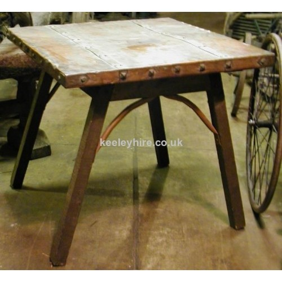 Square Copper Top Table