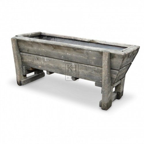 Large Wood Water Trough