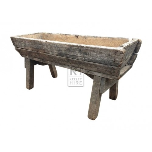 Large Tall Wood Water Trough #4