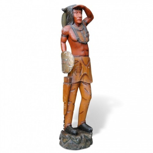 Carved Indian Warrior Statue