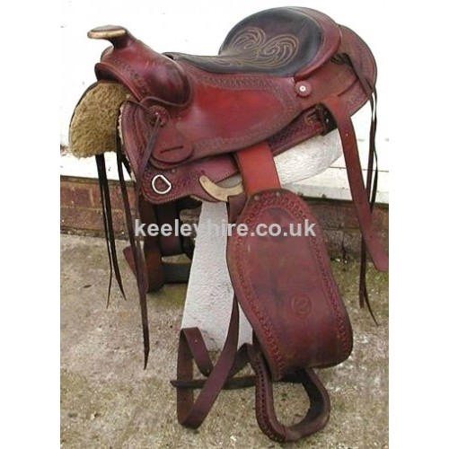 Red Western Saddle
