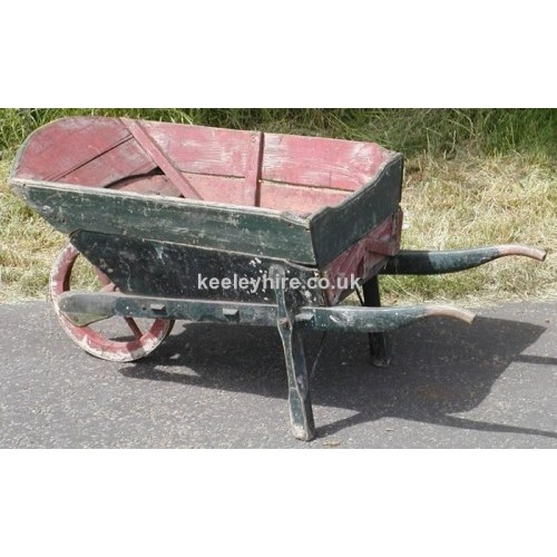 Large wood wheelbarrow