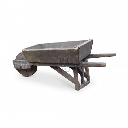 Period wheelbarrow with solid wheel