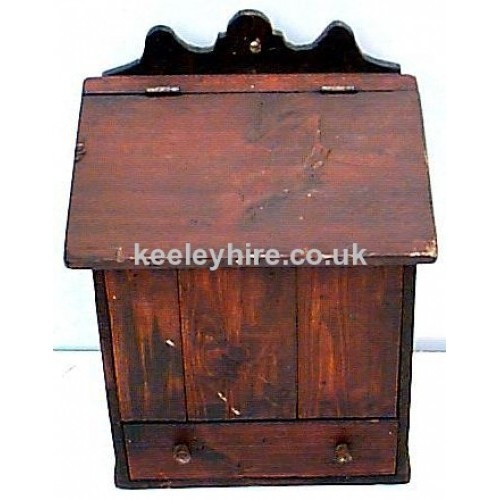 Wood Candle Box with hinged lid