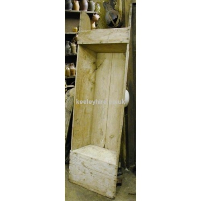 Very large wood dough trough
