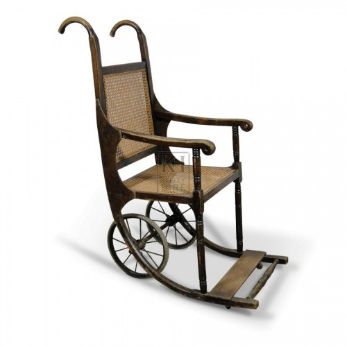 Period wooden Wheelchair