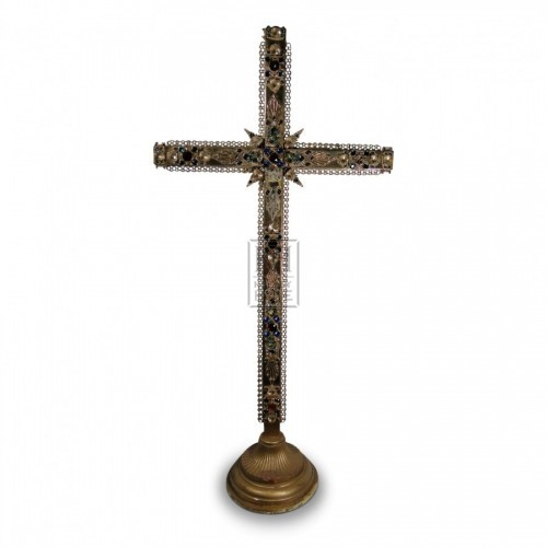 Jewelled Brass Cross