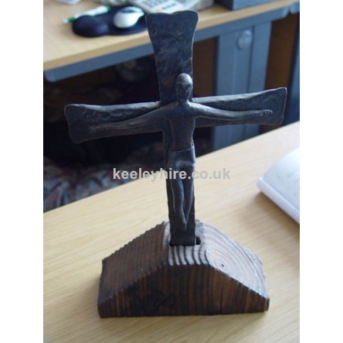 Small iron cross with figure