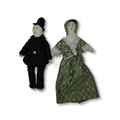 Man & Lady Cloth Dolls