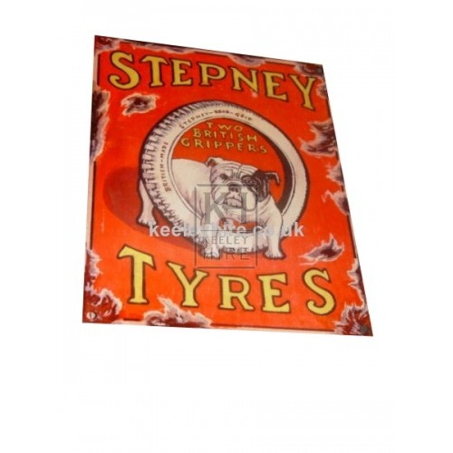 Enamel Stepney Tyres sign