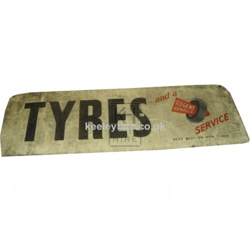 Enamel Tyres sign