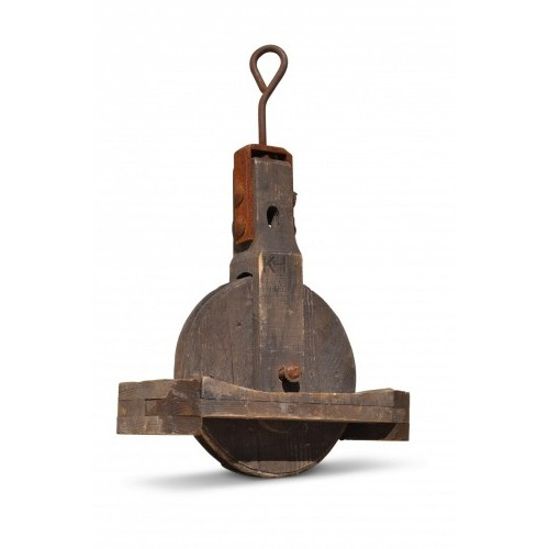 Large Wood Pulley Wheel
