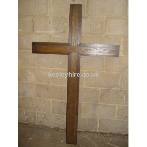 Large polished wood cross